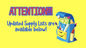Updates to the First Grade Supply List