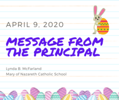 Message from the Principal Miss McFarland