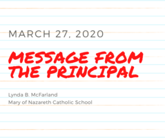 An Important Message from Miss McFarland