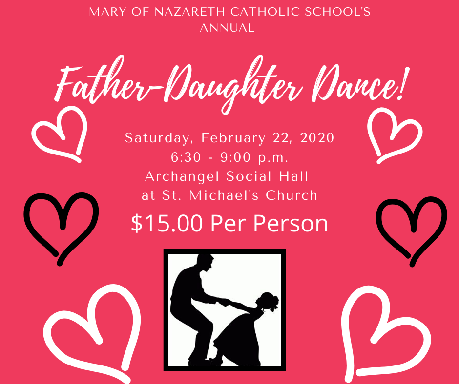 Advertisement for Father/Daughter Dance 2020