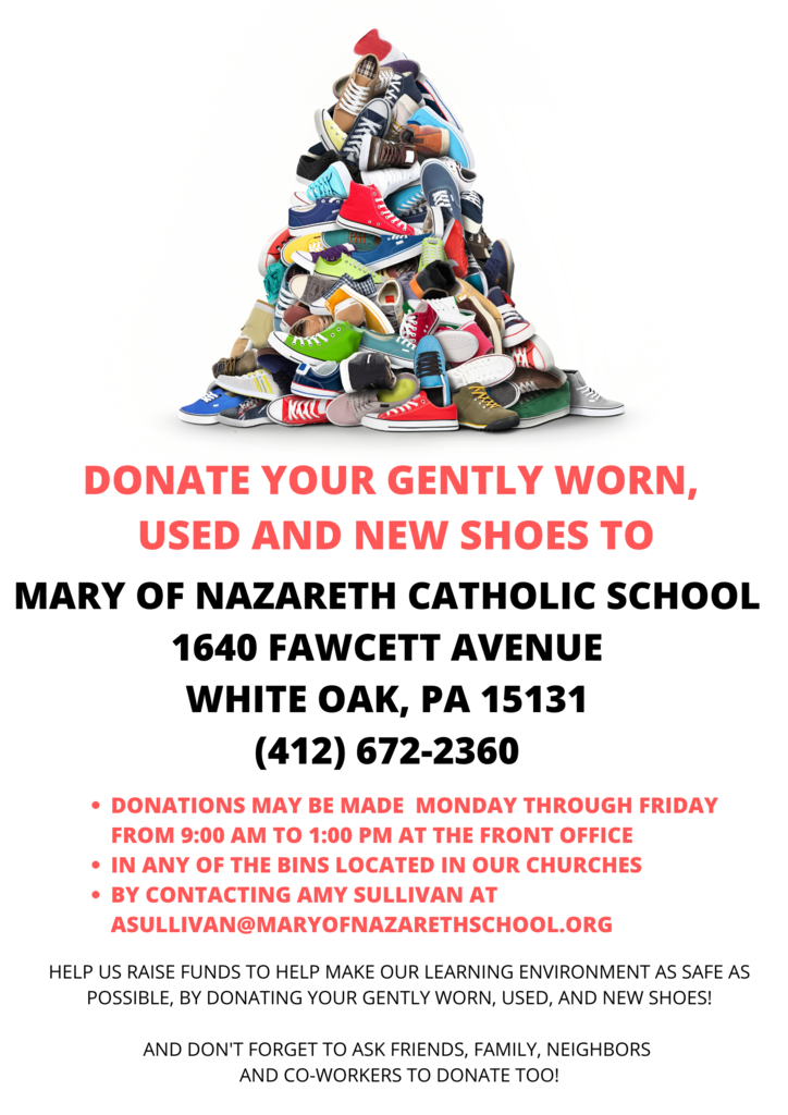 Flyer for Funds2Org Shoe Drive