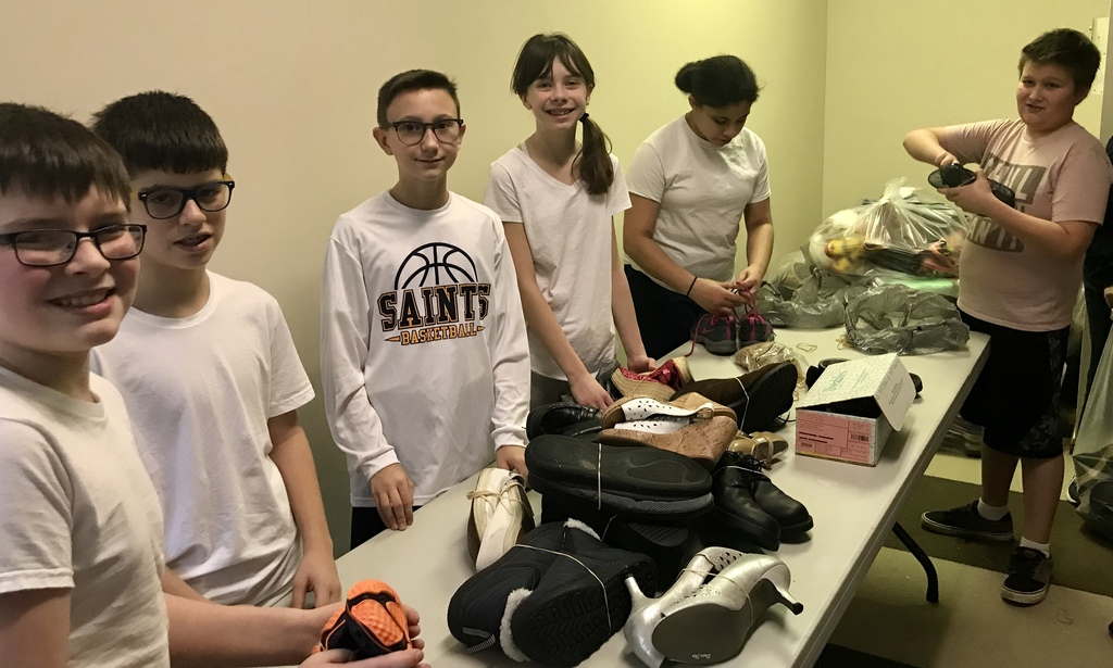 Funds2Org Shoe Drive 6th grade